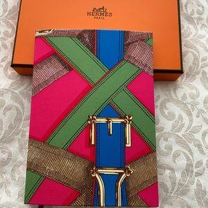 Hermès silk cover notebook